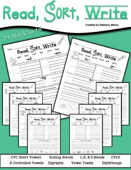 First Grade Word Sort MEGA Bundle of All Word Sorts
