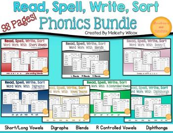 Word Sort Phonics Worksheets MEGA Bundle