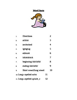 First Grade Word Sorts