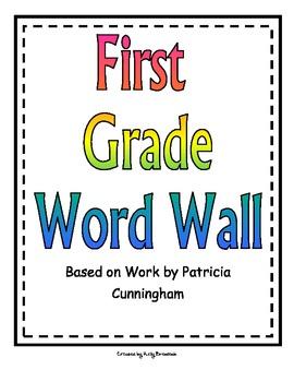 First Grade Word Wall