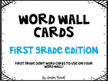 First Grade Word Wall Cards