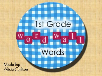 First Grade Word Wall Words Cards
