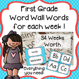 First Grade Word Wall Words for Each Week - Everything You Need!