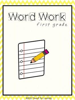 First Grade Word Work Bundle