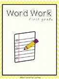 First Grade Word Work