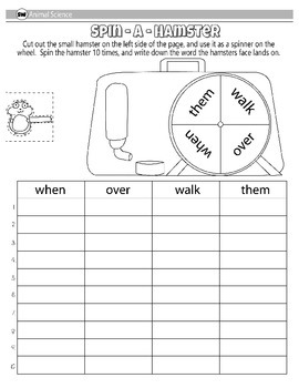 First Grade Word Work Pack Scouts Edition