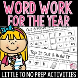 First Grade Word Work for the Year