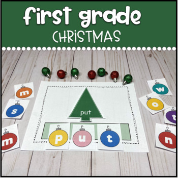 First Grade Words Christmas Tree Building