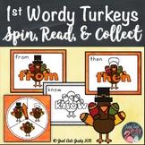 First Grade Wordy Turkeys Sight Word Game