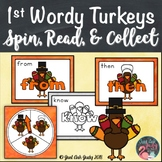 First Grade Wordy Turkeys Sight Word Game