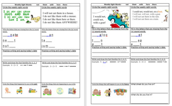 First Grade Worksheet Bonanza- Sub Work, Center Work, Morning Work, Homework