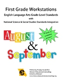 First Grade Worskstations Centers August & September Resource