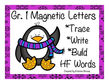 First Grade Write and Build High Frequency Words with Magn