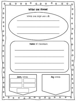 Back to School Write the Room First grade & Journeys Have-Go