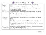 First Grade Writers Workshop Year Plan/Scope and Sequence