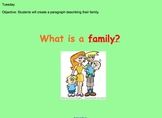 First Grade - Writing Activities (Adjectives/Family/Plot)