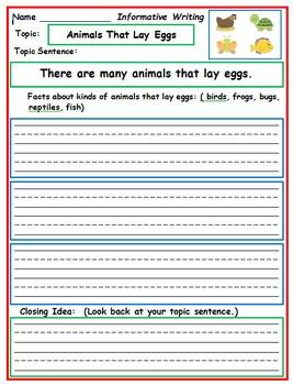 First Grade Writing: April Activities