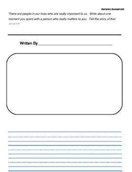 First Grade Writing Assessment Prompts: Explanatory, Opinion, Narrative and More