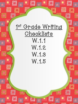 First Grade Writing Checklists