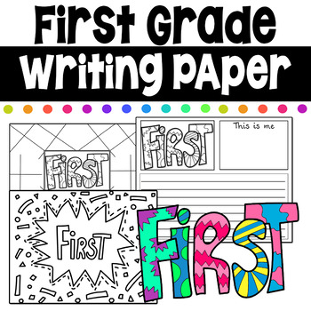 First Grade Writing Coloring Pages First Day of School