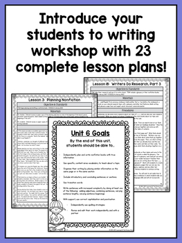 First Grade Informational Writing Lessons {1st Grade Writing Workshop Unit 6}