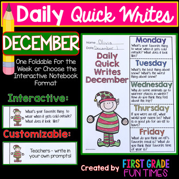 Christmas Activities Writing Prompts for December