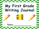First Grade Writing Journal with prompts!