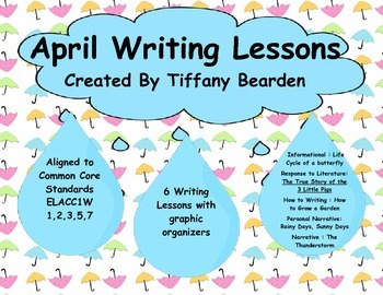 First Grade Writing Lessons for April