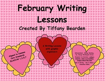 First Grade Writing Lessons for February