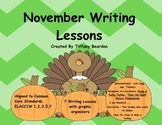First Grade Writing Lessons for November