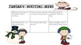 First Grade Writing Menus for January-May