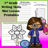 First Grade Writing Mini Lesson Printables