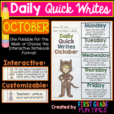 Fall Halloween Writing October Quick Writes