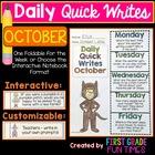 Fall Activities October Quick Writes