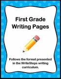 First Grade Writing Pages for WriteSteps