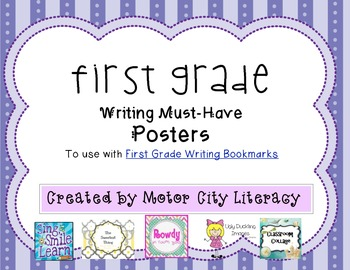 First Grade Writing Posters FREEBIE