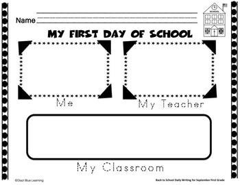 First Grade Writing Practice - No PREP (September)