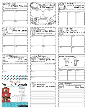 First Grade Writing Prompts - The Full Year