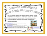 First Grade Writing Prompts and Journal Pages for October (Common Core Aligned)