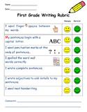 First Grade Writing Rubric