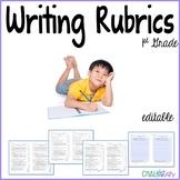 First Grade Writing Rubrics