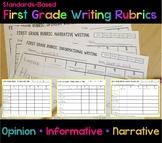 First Grade Writing Rubrics (Standards Based)