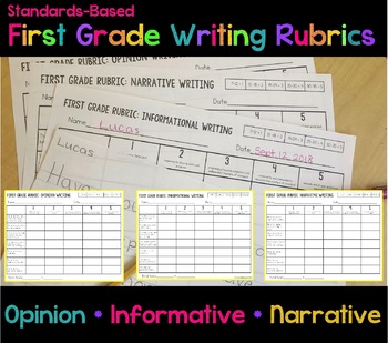 First Grade Writing Rubrics (Standards Based)