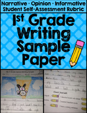 First Grade Writing Samples