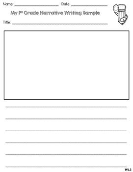 First Grade Writing Samples