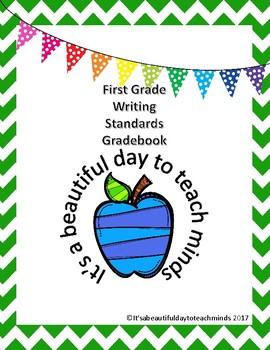 First Grade Writing Standards Grade Book