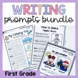 First Grade Writing Worksheets Prompts Bundle - Opinion, N