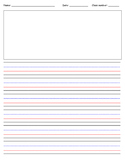 First Grade Writing paper template