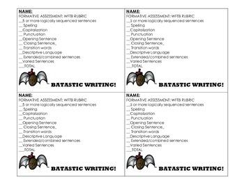 First Grade Writing to Inform: Bats