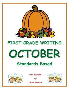 First Grade Writing: October